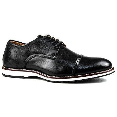 Sapato Masculino Brogue Derby Comfort Preto 8005