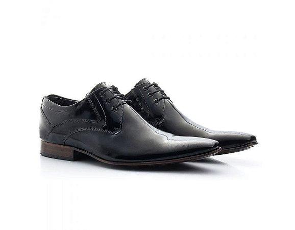 Sapato Social Masculino Bigioni Couro Verniz Preto 379