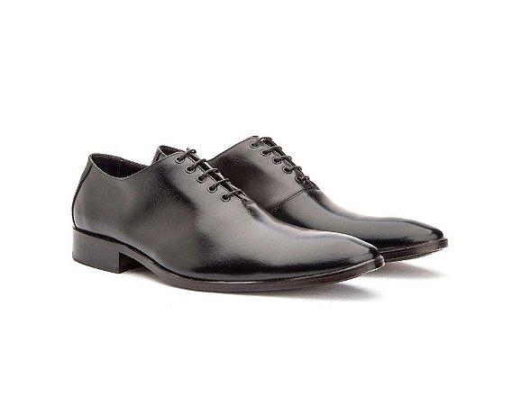 Sapato Social Masculino Oxford Couro Cromo Preto 2001