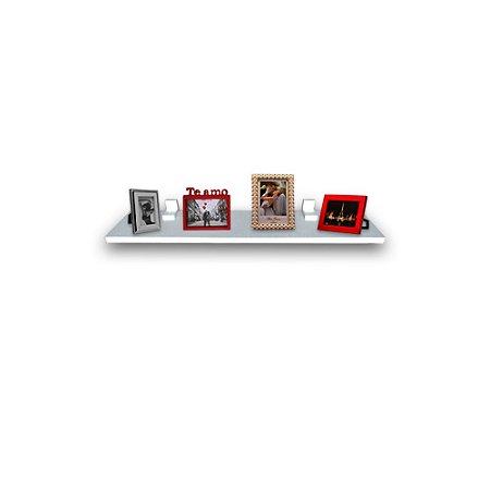 Prateleira Simples Trovarelli Branca 60x20 cm com Suporte