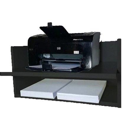Suporte Para Impressora com Nicho Trovarelli Preto