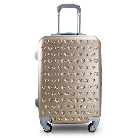 Mala de Viagem Love 3100ML ABS Jacki Design Viagem Dourada