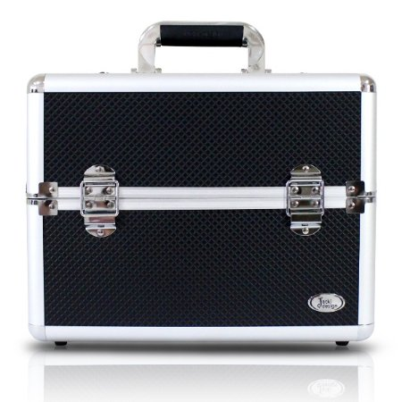 Maleta Profissional de Maquiagem Tam. G Alumínio+ABS Jacki Design Maletas Preto