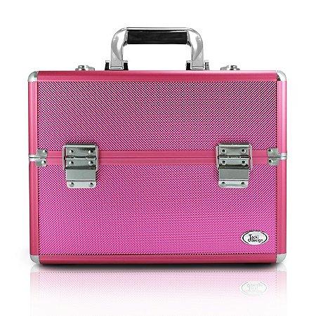 Maleta Profissional de Maquiagem (G) Alumínio/ABS Jacki Design Maletas Pink