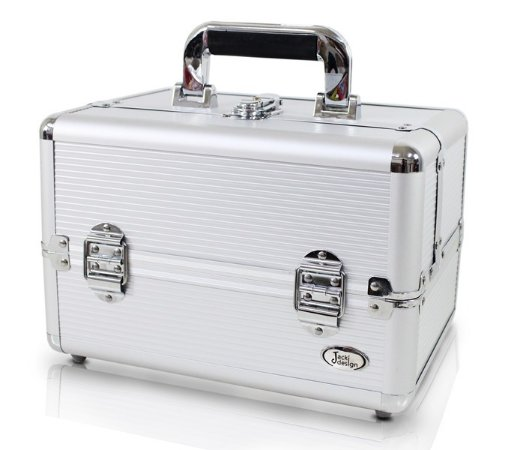 Maleta Profissional de Maquiagem Tam. P Alumínio+ABS Jacki Design Maletas Prata