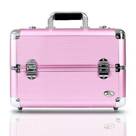 Maleta Profissional de Maquiagem Tam. G Alumínio+ABS Jacki Design Maletas Rosa