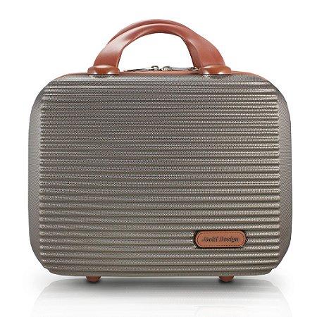 Frasqueira Premium ABS Jacki Design Viagem Bronze