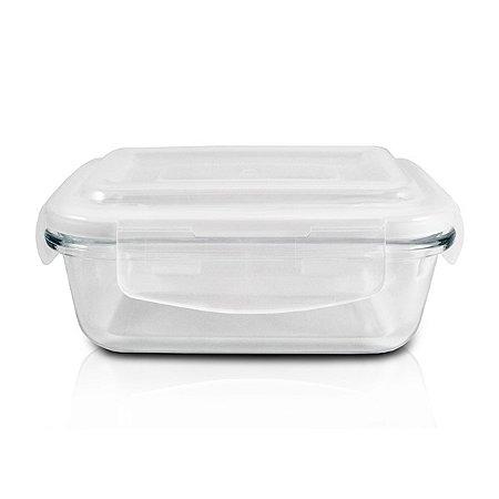 Pote de Vidro Hermético (P) 400ML Tampa: Polipropileno; Pote: Vidro Jacki Design  Cristal