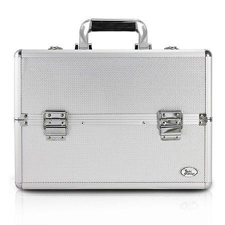 Maleta Profissional de Maquiagem Alumínio+ABS Jacki Design Maletas Prata
