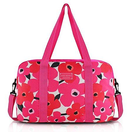 Bolsa de Viagem Poliéster Jacki Design Papoula