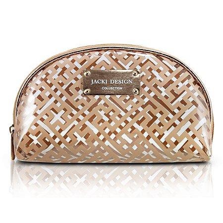 Necessaire Meia Lua PVC Jacki Design Diamantes