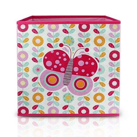 Caixa Organizadora Infantil Material Externo: Tecido; Material Interno: Papelão Jacki Design Pequeninos