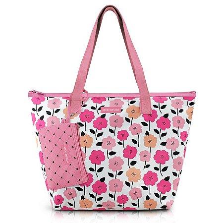 Bolsa com Niqueleira Poliéster Jacki Design Pink Lover