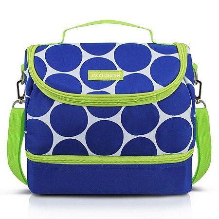 Bolsa Térmica com 2 Compartimentos Poliéster + Folha de Alumínio Jacki Design Dots