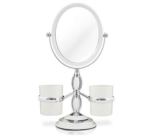 Espelho de Bancada com Suportes Laterais PS(Poliestireno) Jacki Design Espelho