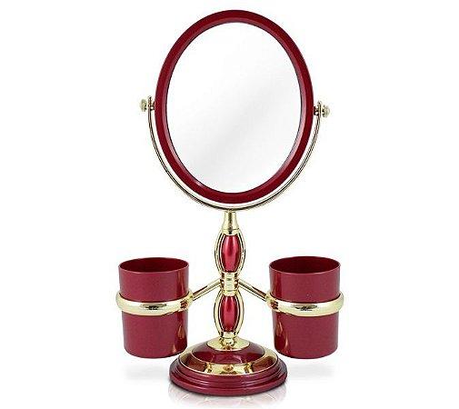 Espelho de Bancada com Suportes Laterais PP (Polipropileno) Jacki Design Espelho