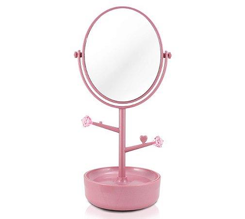 Espelho de Mesa com compartimento para jóias PP (Polipropileno) Jacki Design Espelho