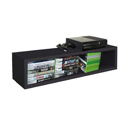 Nicho Retangular Suporte Para Xbox Em Mdf - Preto