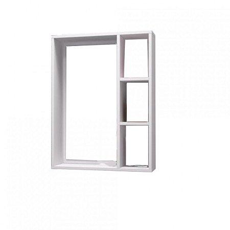 Nicho Para Banheiro Sem Espelho Em Mdf - Branco