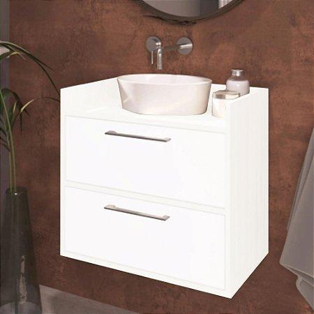 Gabinete Banheiro Suspenso Duas Portas Trovarelli Branco