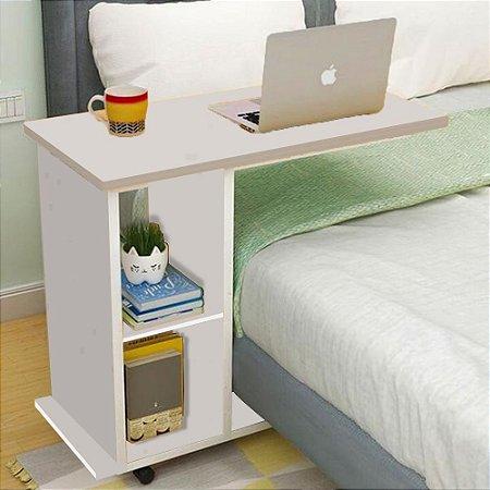 Mesa com Rodizio - Branco