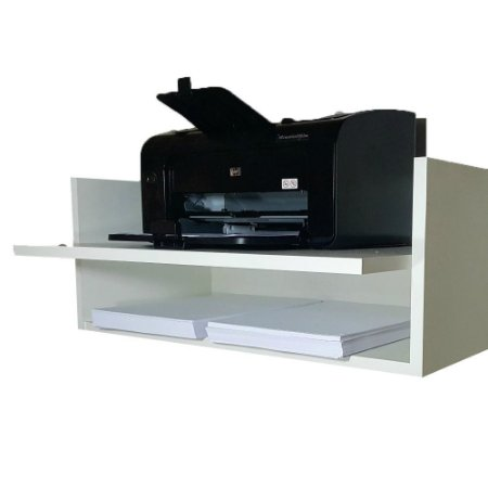 Suporte Para Impressora Com Nicho Em Mdf - Branco