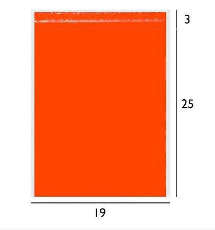 Envelope de Segurança Laranja 19x25