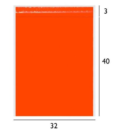 Envelope de Segurança Laranja 32x40