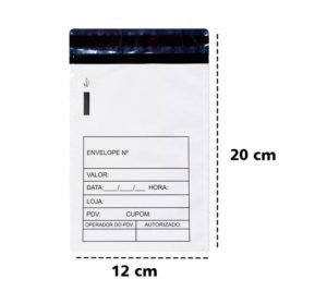 Envelope Sangria de Caixa 12x17 + 3 de aba