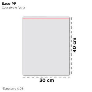 Saco de Polipropileno para Embalagem – 30×40 - 1000 Unidades