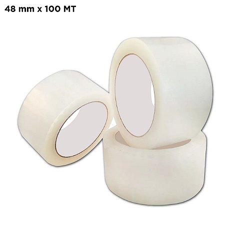 Fita Adesiva Transparente 48mm – 100 metros
