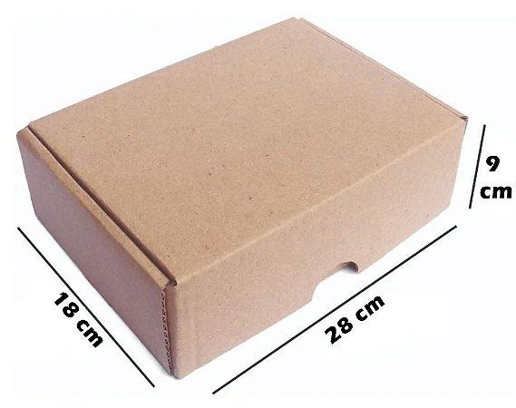 Caixa de Papelão Corte Vinco N9 - 28 x 18 x 9