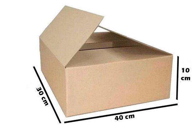 Caixa de Papelão Maleta Onda B Simples N8  40 x 30 x 10