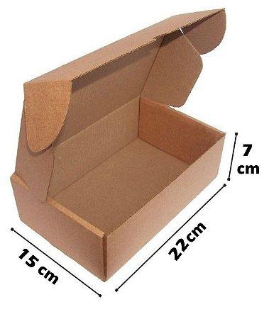 Caixa de Papelão Corte e Vinco Onda B Simples - N10 - 22 X 15 X 7