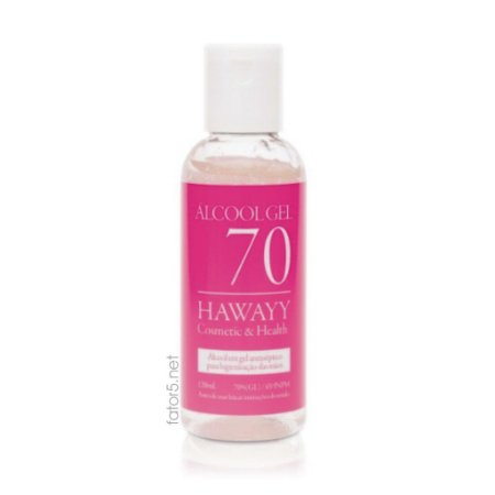 Álcool Gel Antisséptico 70% Hawayy Fator 5 120ml