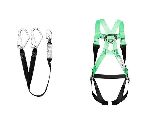 Cinturão 2 Pontos DG5400 + Talabarte Duplo Y ABS 8009