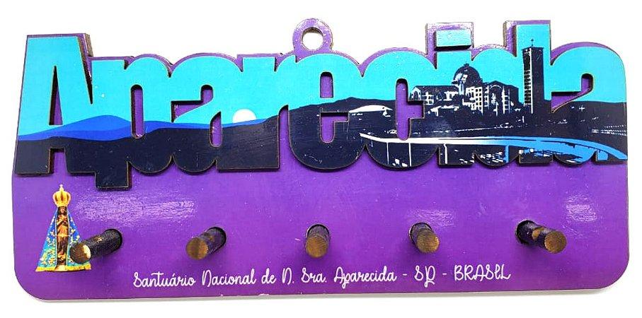 Porta Chaves Aparecida - Roxo #07