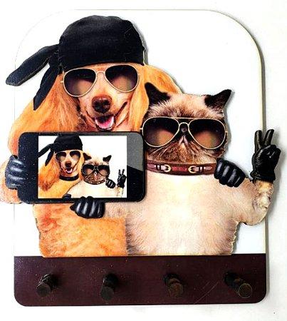 Porta Chaves  | Cão e Gato Selfie