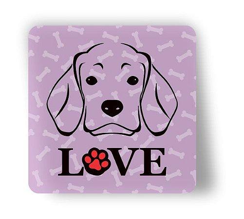 Porta Copo Magnético/Imã de Geladeira | LOVE DOG (10)