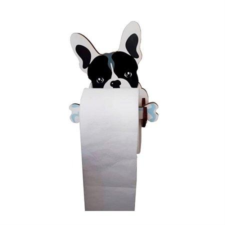 Porta Papel Higiênico | Bulldog Francês