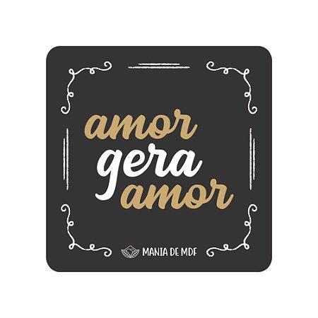 Porta Copo Magnético/Imã de Geladeira  | Amor Gera Amor