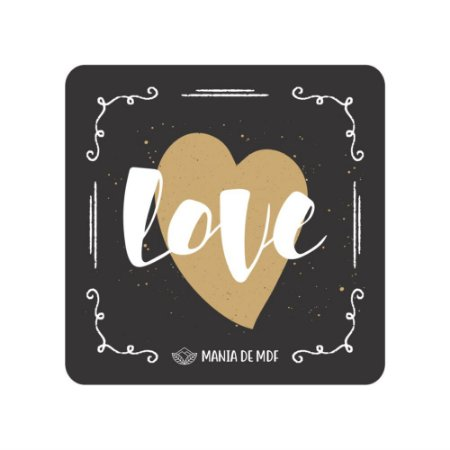 Porta Copo Magnético/Imã de Geladeira  | Love