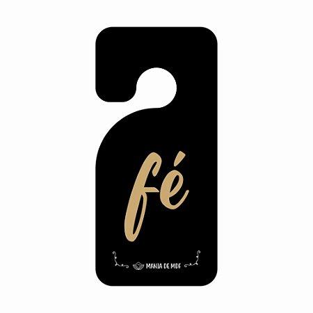 Placa TAG MDF Decorativa Para Porta | Fé