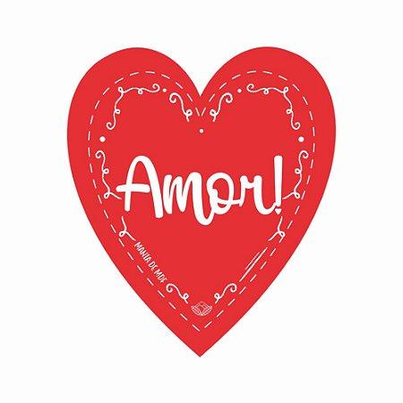 Placa Grande TAG MDF Decorativa | Formato de Coração | Amor