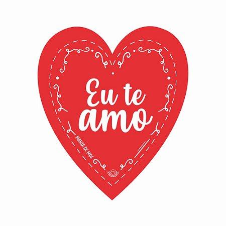 Placa Grande TAG MDF Decorativa | Formato de Coração | Eu te amo