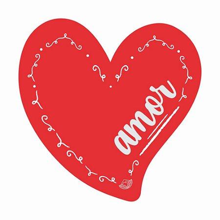 Placa Pequena TAG MDF Decorativa | Formato de Coração | Amor