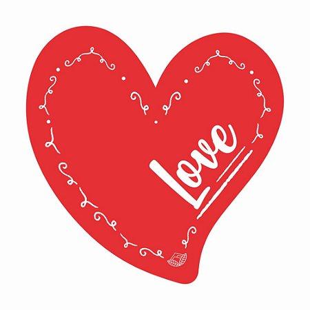 Placa Pequena TAG MDF Decorativa | Formato de Coração | Love