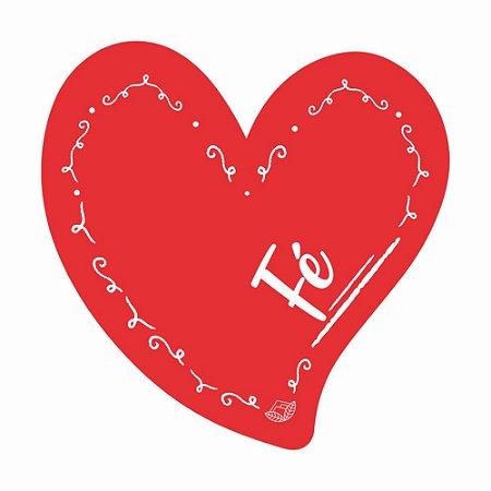 Placa Pequena TAG MDF Decorativa | Formato de Coração | Fé