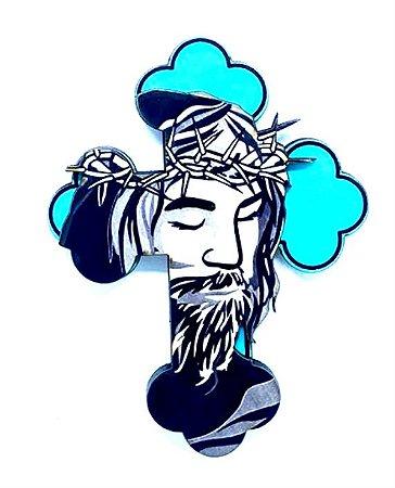 Jesus cruz azul - Imã