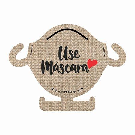 Porta Máscara 4 ganchos | Use Máscara| Bege